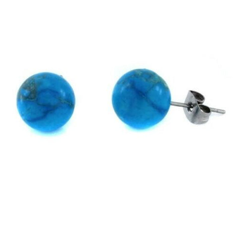 QVC Steel By Design Quartz Stainless Steel Opaque Stud Earrings