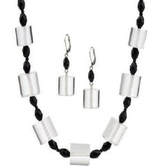 "QVC Isaac Mizrahi Live! ""Mod"" Bead Necklace and Earring Set"