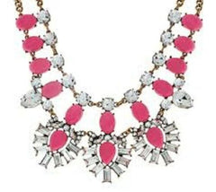 QVC BaubleBar Crystal Feather Bib Necklace