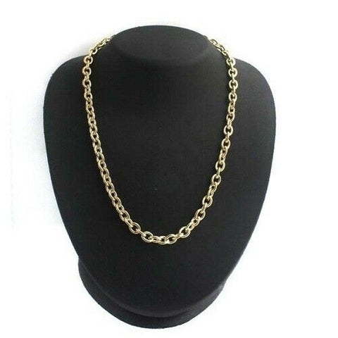 "QVC Classic Bold Oval Link Chain 18"" Necklace Yellow"