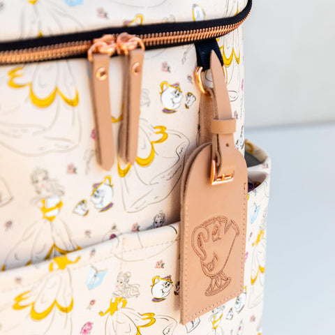 whimsical belle luggage tag