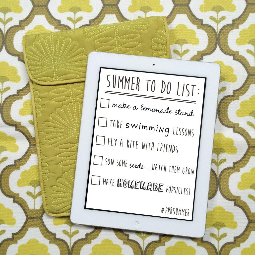 PPB's Summer To-Do List