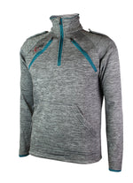 Load image into Gallery viewer, Half Zip Top - Arterior Grey/Teal