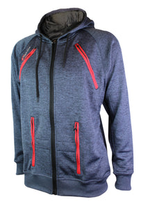 Hoodie with arm/chest Zips