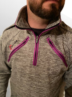Load image into Gallery viewer, Half Zip Top - Arterior Grey/Purple