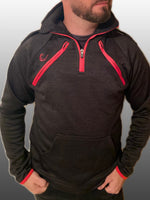 Load image into Gallery viewer, Half Zip Top - Arterior Black/Red