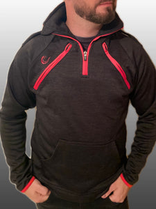 Half Zip Top - Arterior Black/Red