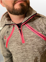 Load image into Gallery viewer, Half Zip Top - Arterior Grey/Pink