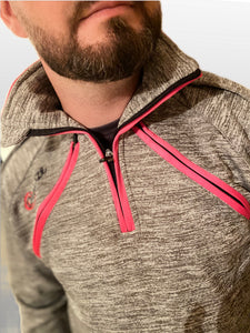 Half Zip Top - Arterior Grey/Pink