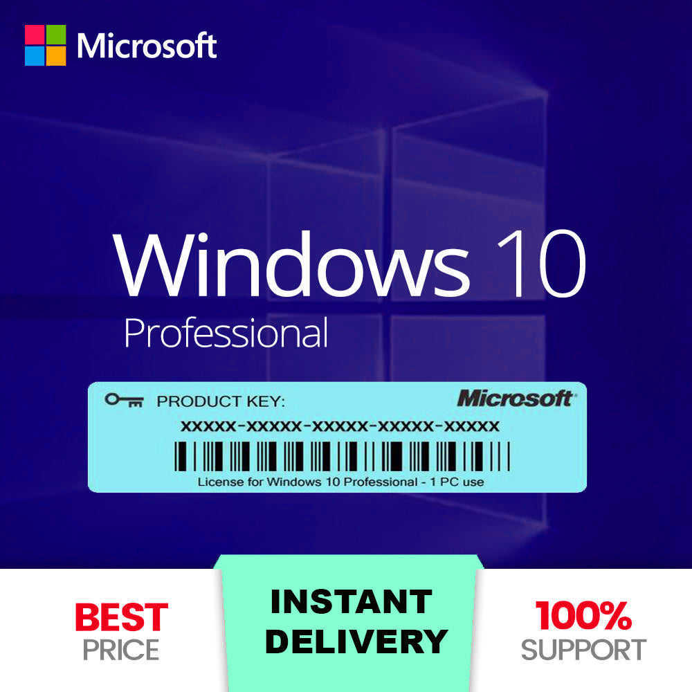 Windows 10 Pro Product Key Activation 32 and 64 bit Genuine For Code 1PC