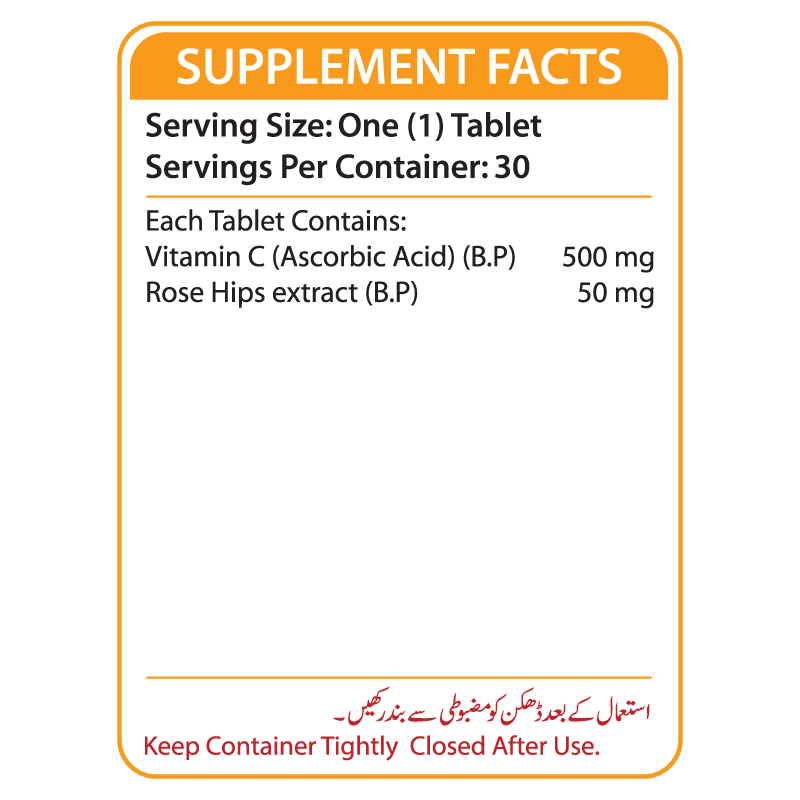 Extra-C Supplement Facts