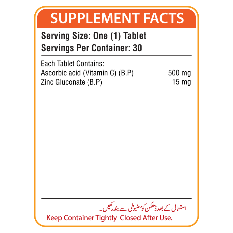 Nutrifactor Nutra-C Plus Supplement Facts