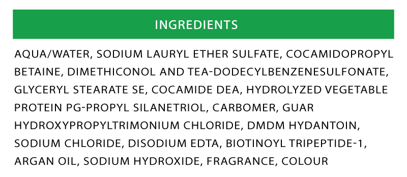 Max Hair Shampoo Ingredients