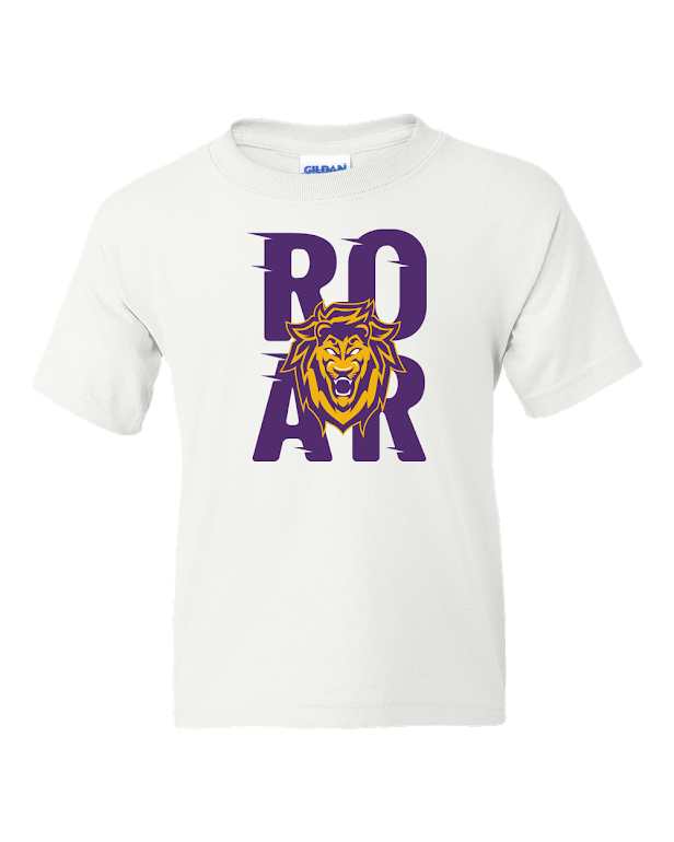 Monarchs White 50/50 ROAR Logo T-shirt