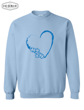 Load image into Gallery viewer, Heart Autism Awareness - Heavy Blend Sweatshirt