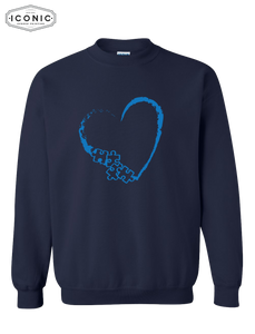 Heart Autism Awareness - Heavy Blend Sweatshirt