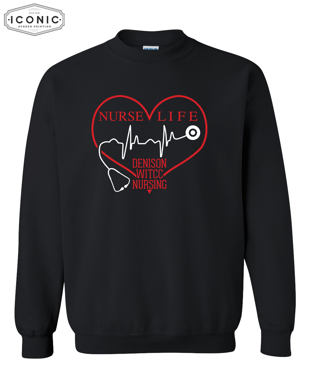 Nurse Life - Heavy Blend Crewneck Sweatshirt
