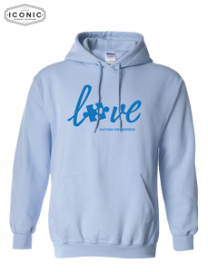 Love Autism Awareness - Heavy Blend Hooded Sweatshirt