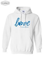 Load image into Gallery viewer, Love Autism Awareness - Heavy Blend Hooded Sweatshirt