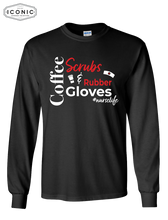 Load image into Gallery viewer, Coffee, Scrubs & Rubber Gloves - Ultra Cotton Long Sleeve