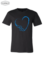 Load image into Gallery viewer, Heart Autism Awareness - Unisex Jersey Tee