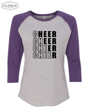 Load image into Gallery viewer, Cheer Block - Women's Baseball Jersey 3/4 Sleeve