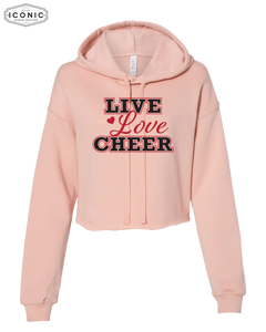 Live Love Cheer Cropped Hoodie