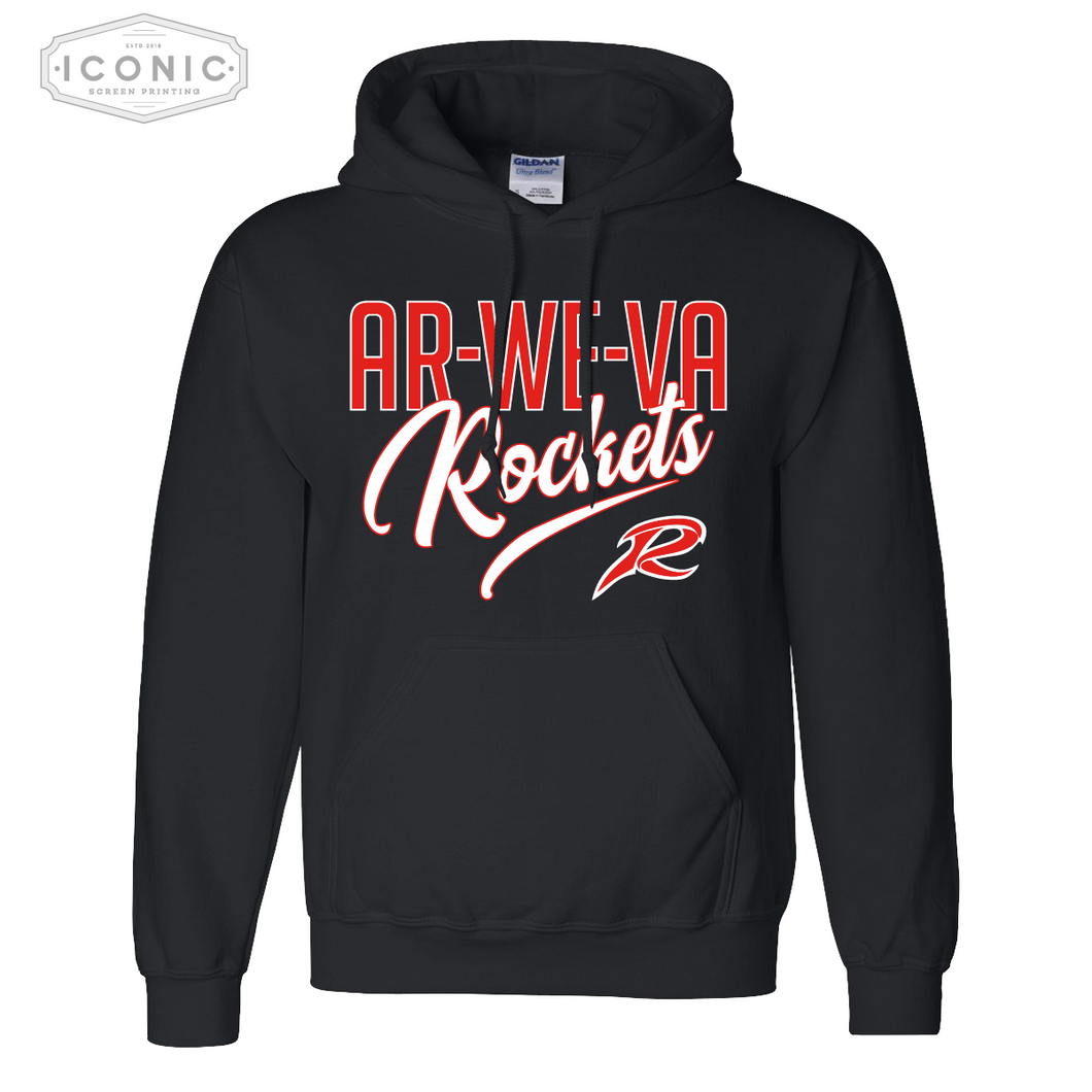 Ar-We-Va Black Heavy Blend Hooded Sweatshirt