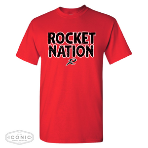 Ar-We-Va Red 50/50 Rocket Nation T-shirt