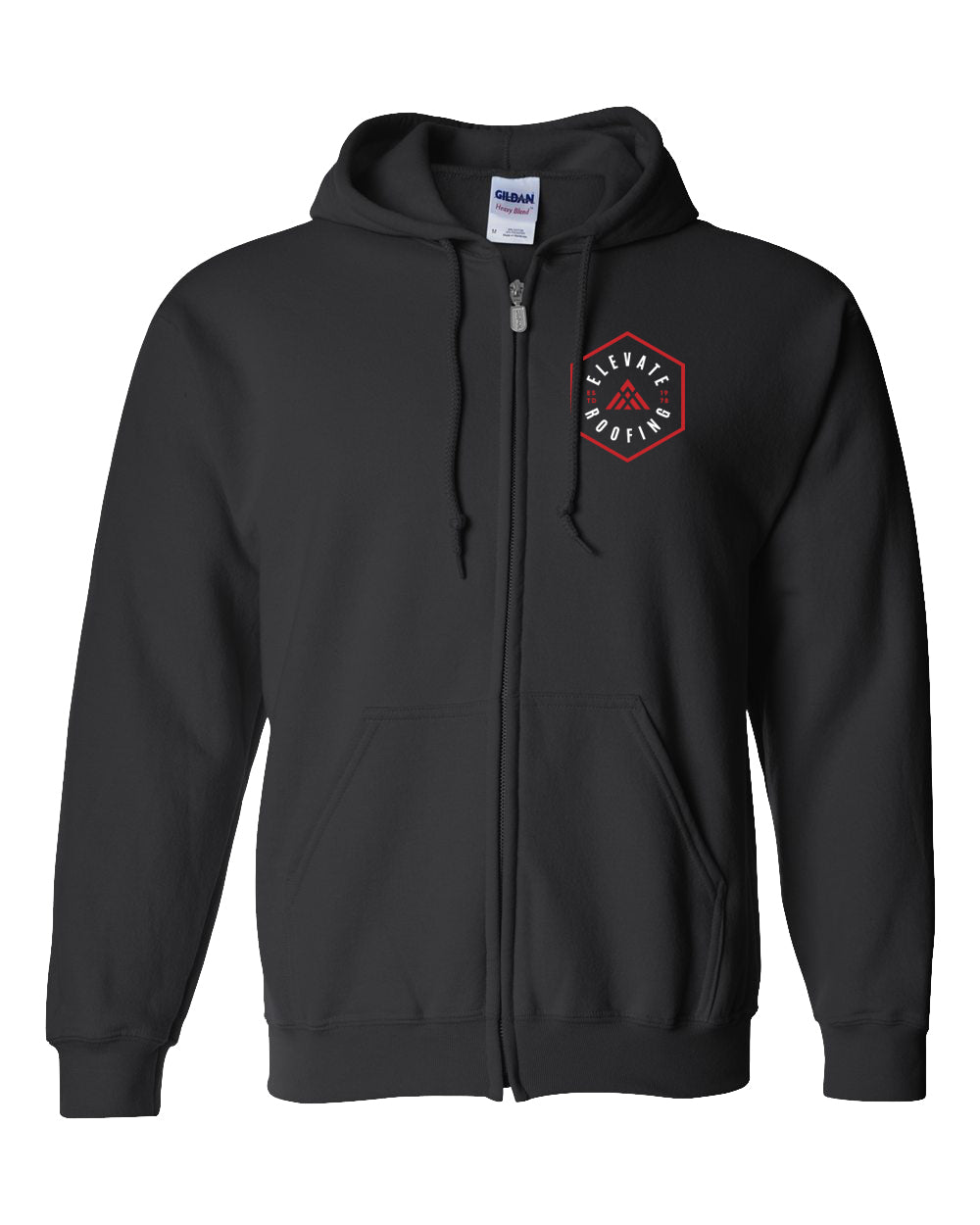 Hexagon Elevate - Heavy Blend Full-Zip Hooded Sweatshirt