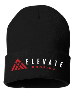 "Elevate Roofing Sportsman - 12"" Solid Knit Beanie"