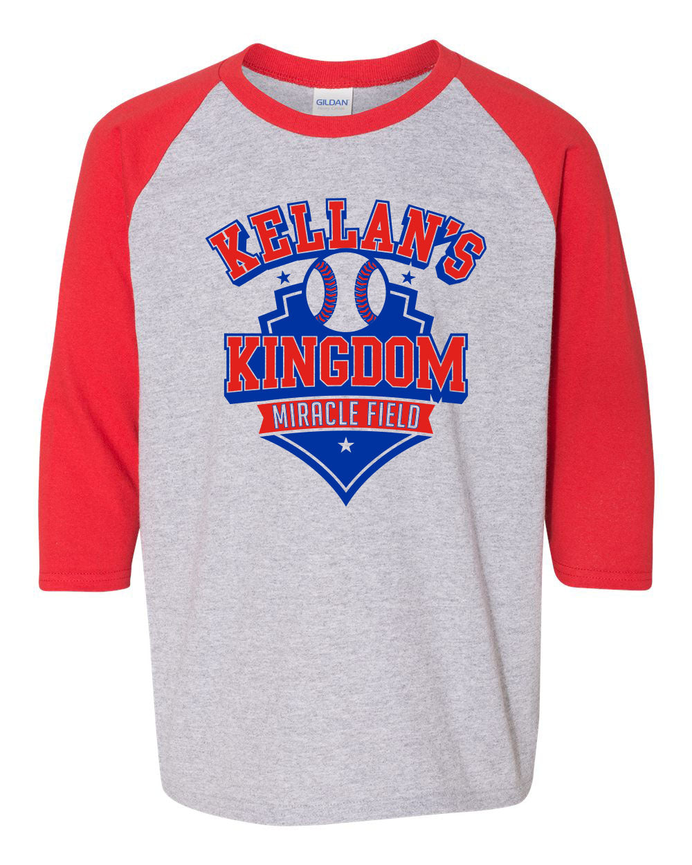 Miracle Field Youth 3/4 Sleeve Red