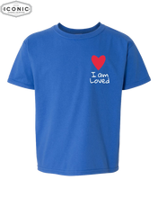 Load image into Gallery viewer, I Am Loved P&L - Softstyle Youth T-Shirt