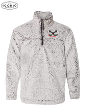 Load image into Gallery viewer, Buck Snort - Unisex Sherpa Fleece Quarter-Zip Pullover