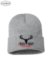 "Load image into Gallery viewer, The Buck Snort Restaurant - Solid 12"" Cuffed Beanie"