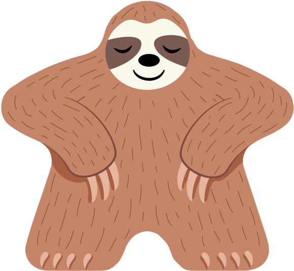 Meeple Coaster - Sloth