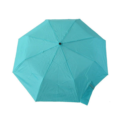 Wooden Duck Handle Auto Open Umbrella in Tahitian Blue Open Top Canopy View