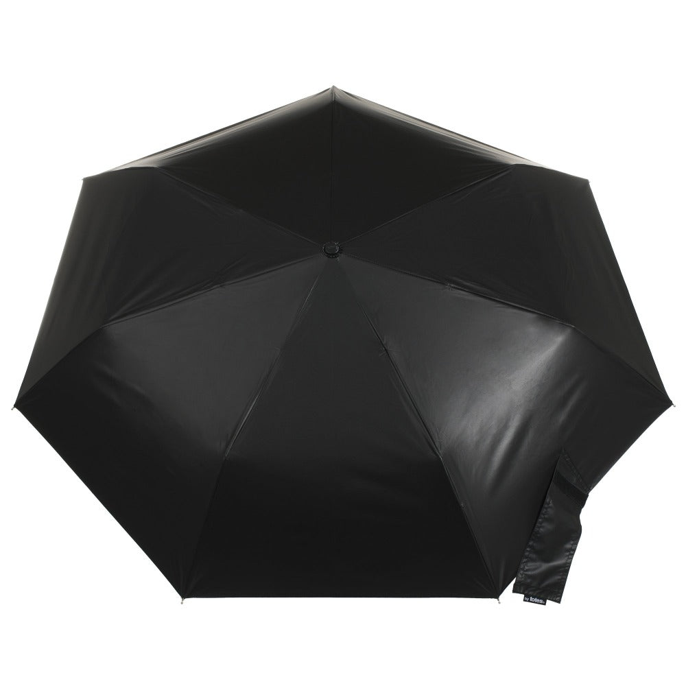 Under Canopy Print Auto Open Close Umbrella in Zodiac Black Open Top View
