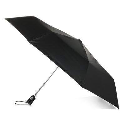 Under Canopy Print Auto Open Close Umbrella in Large Raindrops Open Side Profile
