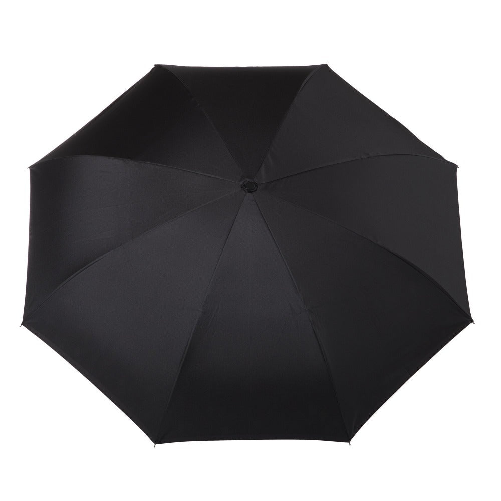 InBrella Reverse Close Umbrella in Black/Grey Open Top View