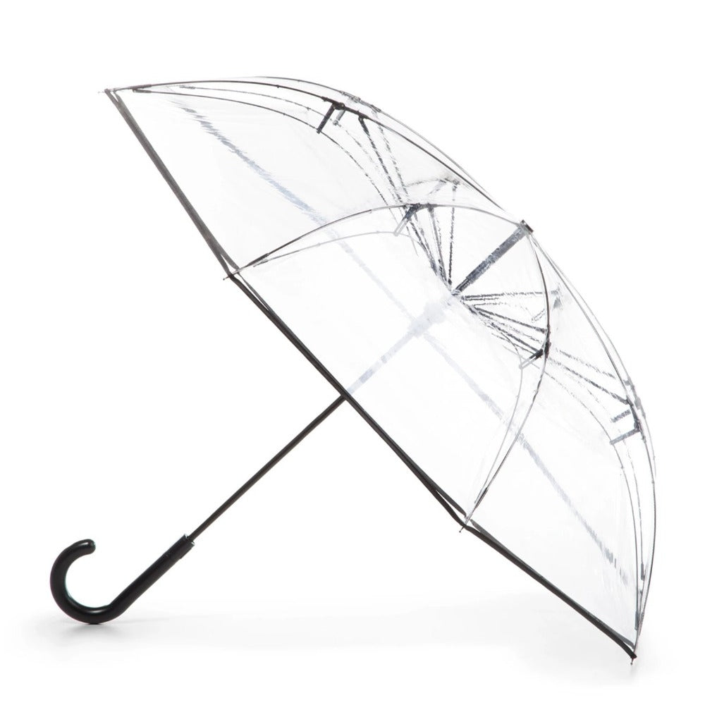 InBrella Reverse Close Umbrella in Black/Grey Open Side Profile