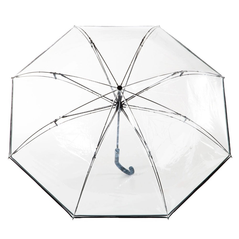 InBrella Reverse Close Umbrella in Clear Open Top View