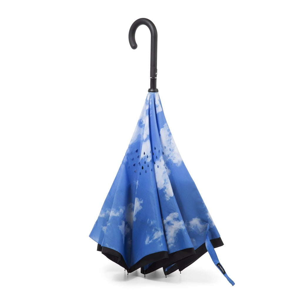 InBrella Reverse Close Umbrella in Clouds Inverse Closed Stand Up