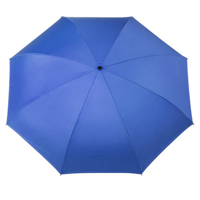InBrella Reverse Close Umbrella in Flower Garden Open Top View