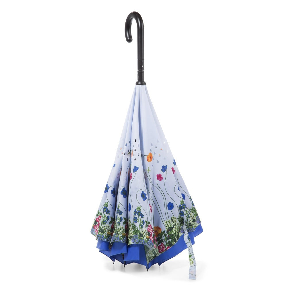 InBrella Reverse Close Umbrella in Flower Garden Inverse Closed Stand Up