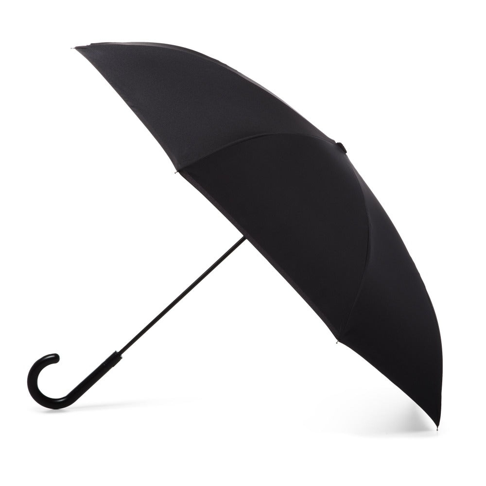 InBrella Reverse Close Umbrella in Large Raindrops Open Side Profile