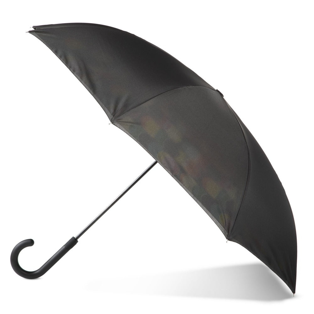 InBrella Reverse Close Umbrella in Circle Mania Open Side Profile