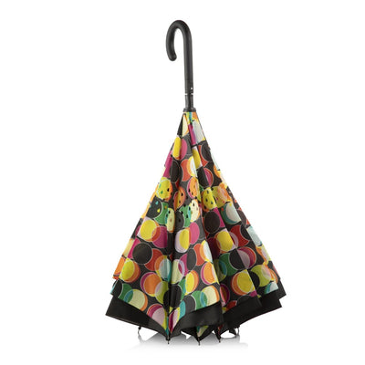 InBrella Reverse Close Umbrella in Circle Mania Inverse Closed Stand Up
