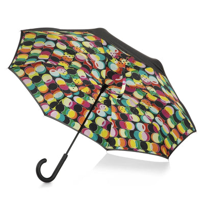 InBrella Reverse Close Umbrella in Circle Mania Open Under Canopy