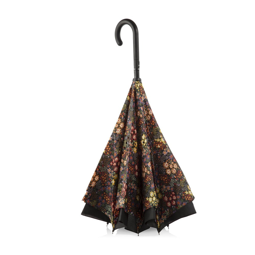 InBrella Reverse Close Umbrella in Enchanted Garden Inverse Closed Stand Up